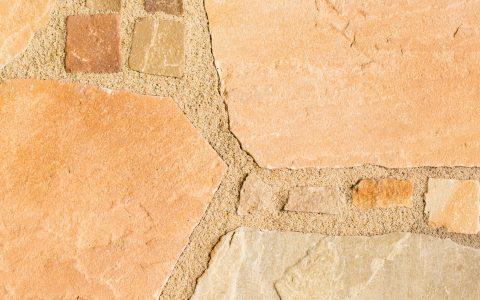 Parolex,  Naturstein  -  Polygonale Sandsteinplatten mit Mosaikpflaster